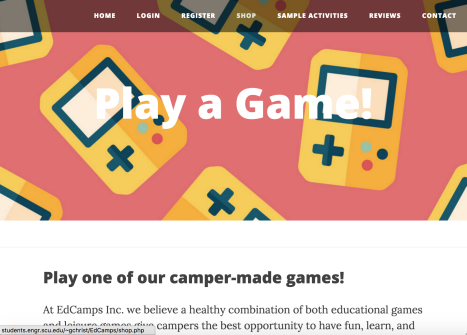 Sample Activities Page Header